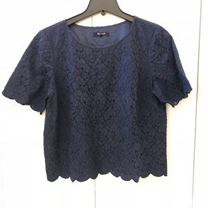 Madewell - Scalloped Edge Lace Top
